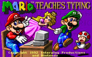 Mario Teaches Typing for PC DOS