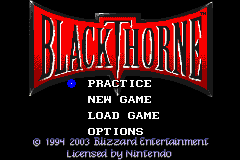 BlackThorne for Game Boy Advance