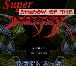 Shadow of the Beast for SNES