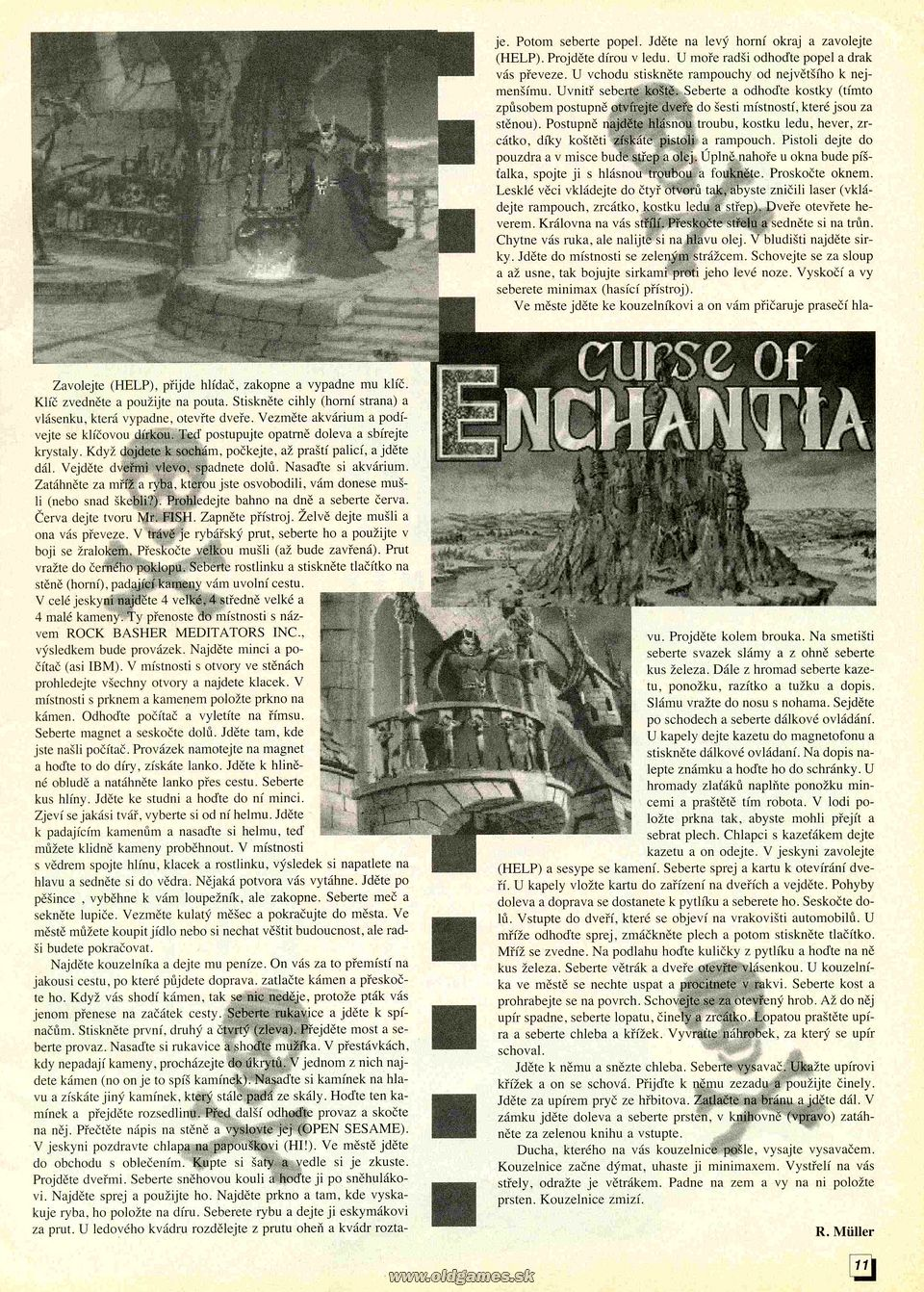 Curse of Enchantia, Návod