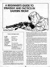 A Beginner's Guide to Strategy and Tactics in Eastern Front
