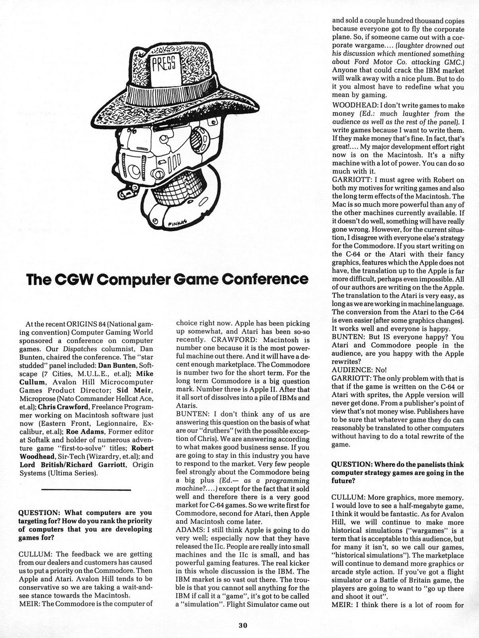 The CGW Computer Game Conference