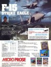 Ads: MicroProse - F-15 Strike Eagle