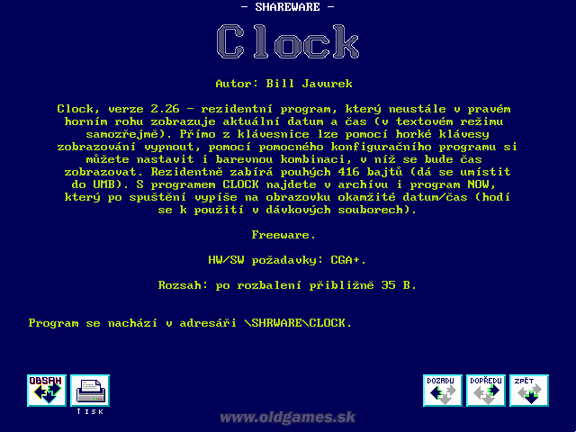 Shareware: Clock