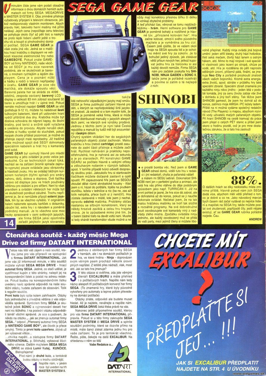 Shinobi, Sega Game Gear