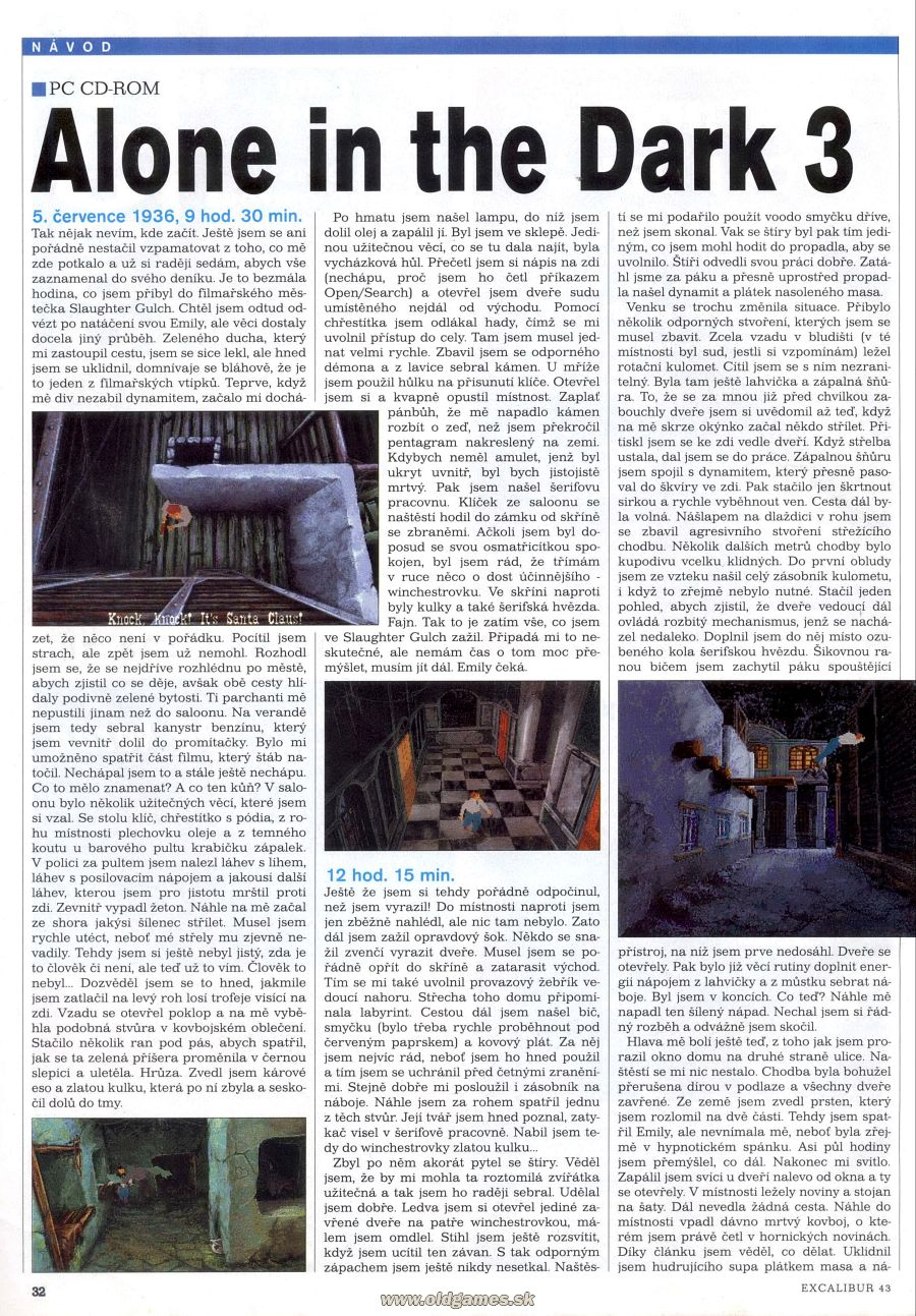 Alone in the dark 3 n vod excalibur 43 page 43 for Alone in the dark 3