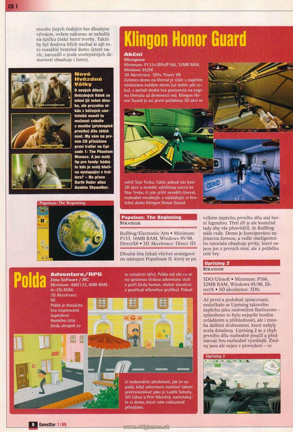 GameStar 1/99 :: Magazine  GameStar 1/99 :...