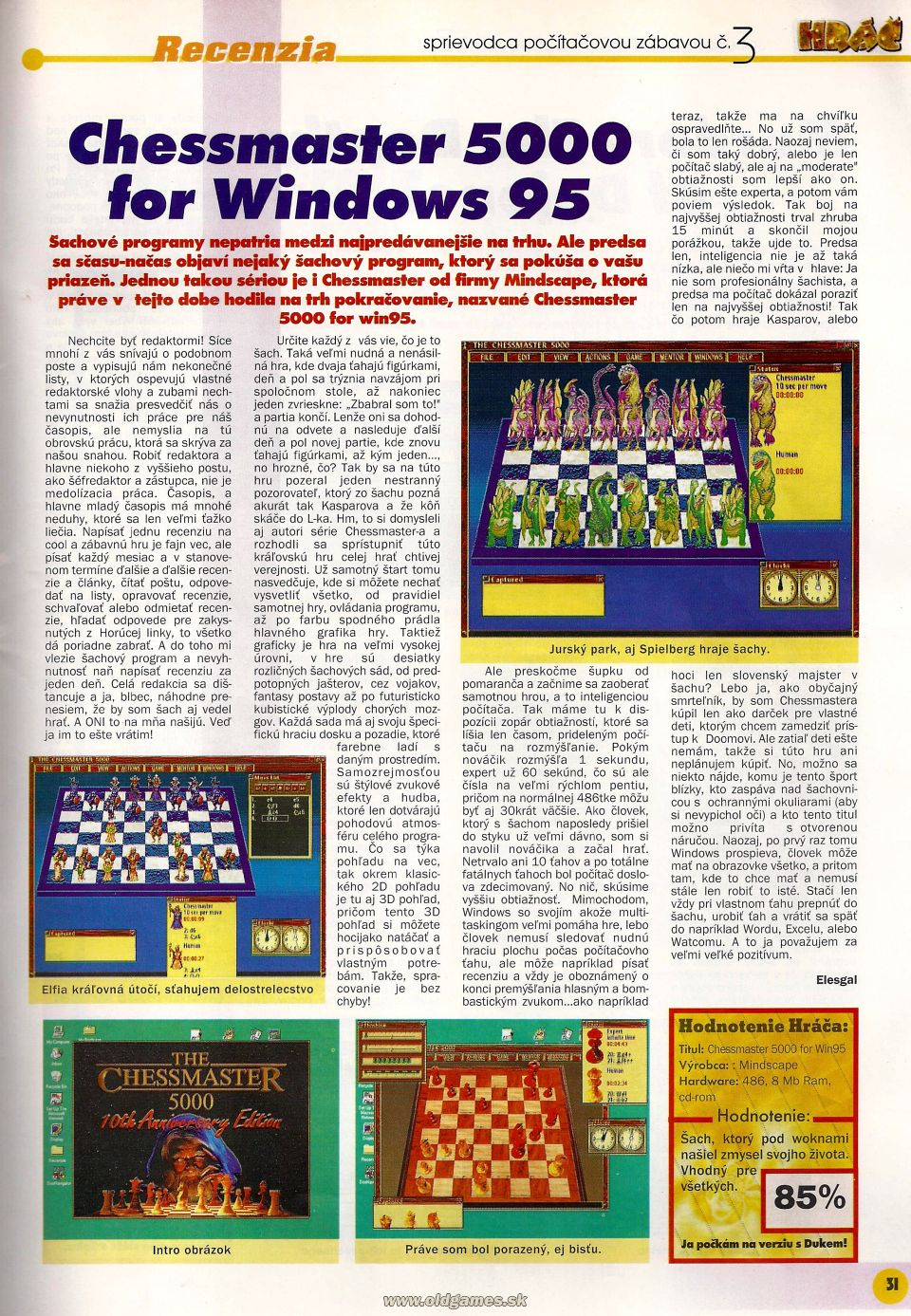 Chessmaster 5000 for Windows 95