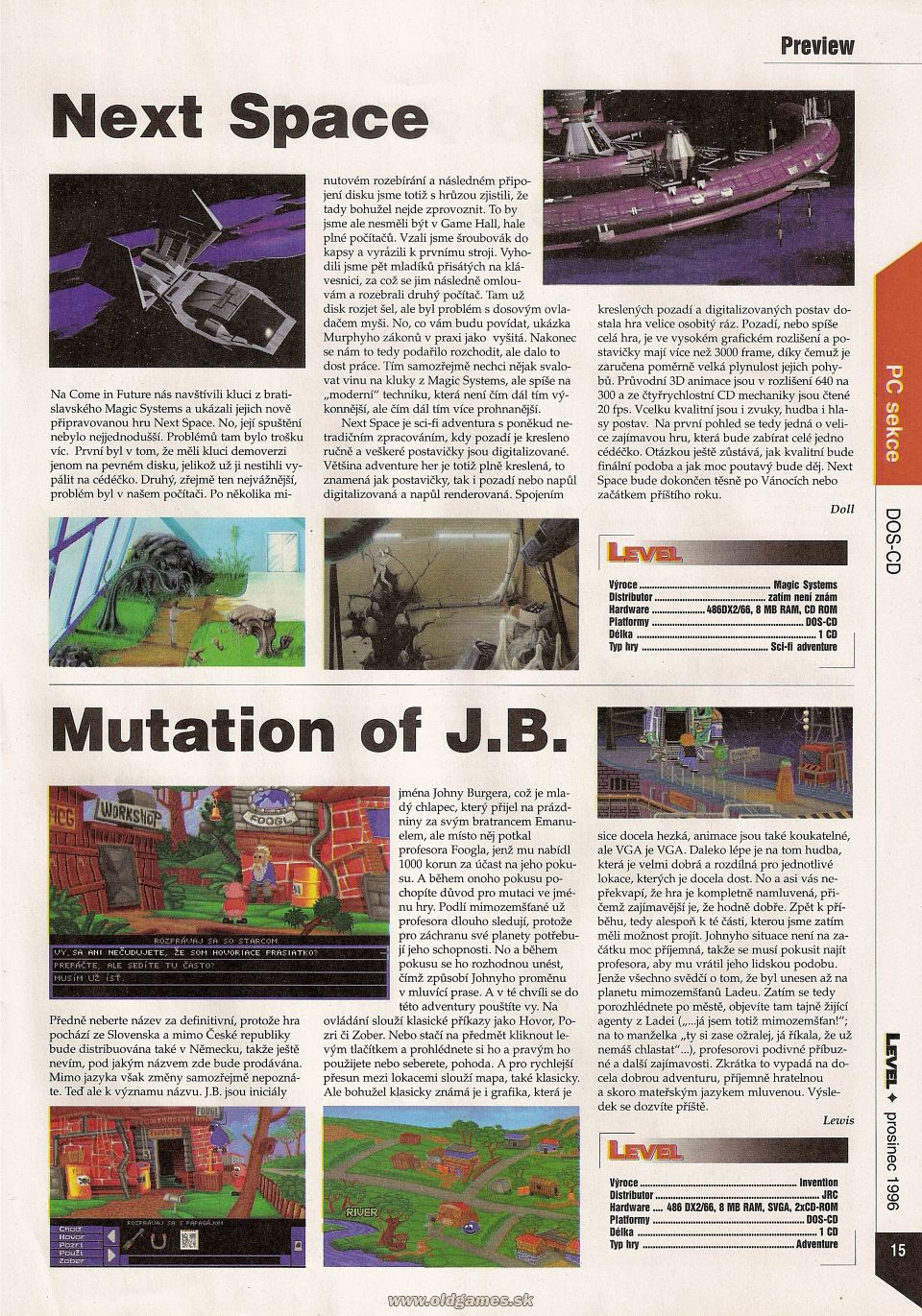Preview: Next Space, Mutation of J.B.