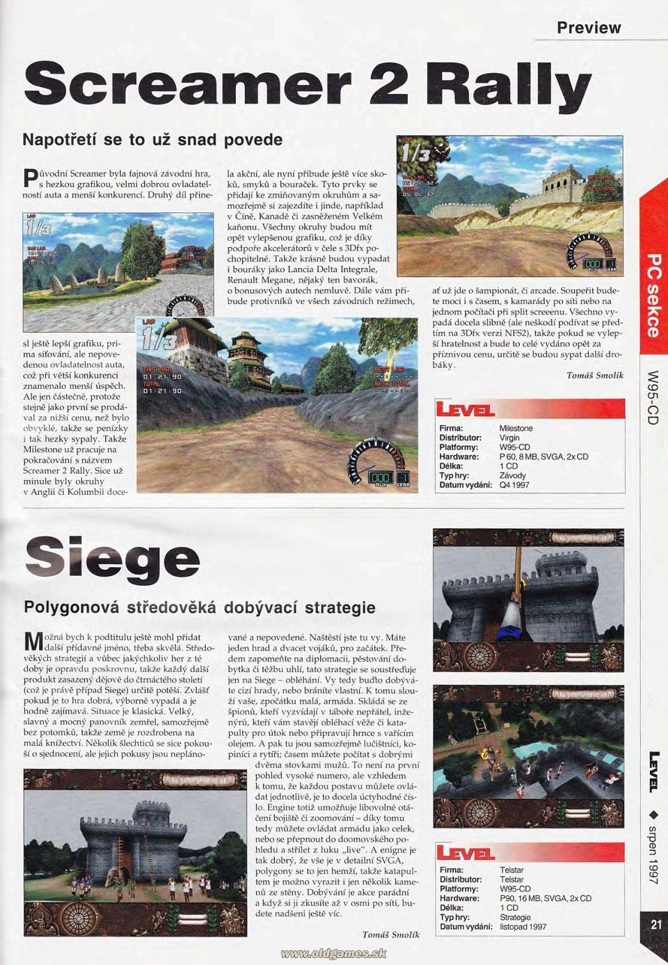 Preview: Screamer 2 Rally, Siege