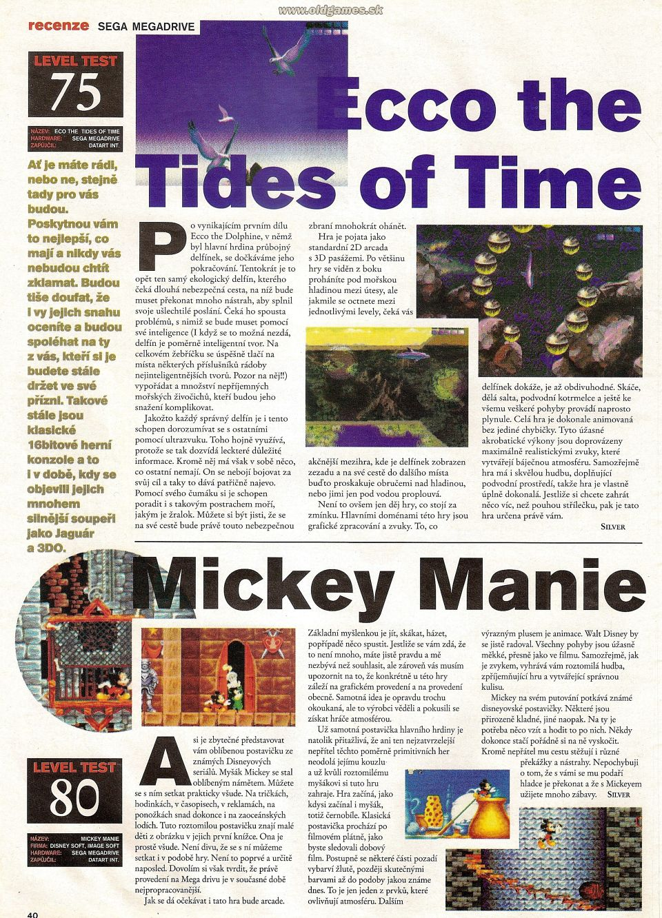 Ecco: The Tides of Time, Mickey Mania