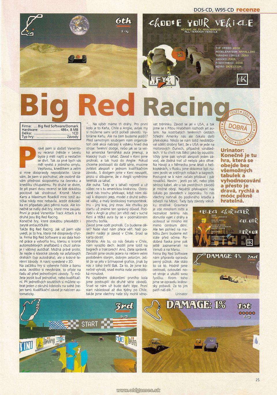 Big red racing level 16 5 96 page 16 for Big red racing