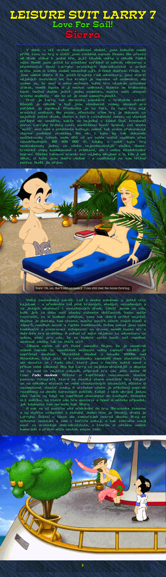 Leisure Suit Larry 7: Love for Sail! (1/2)