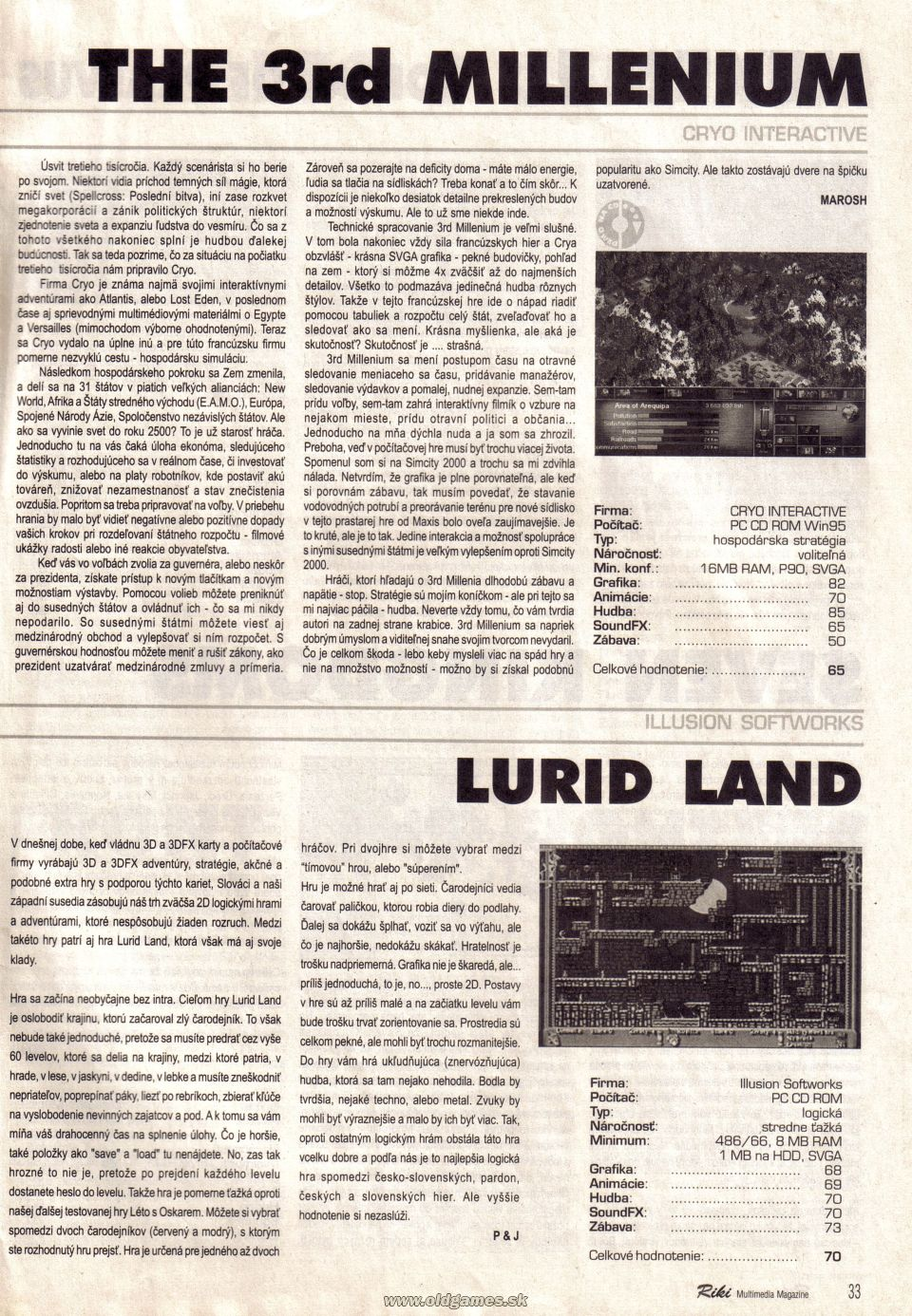The 3rd Millenium, Lurid Land