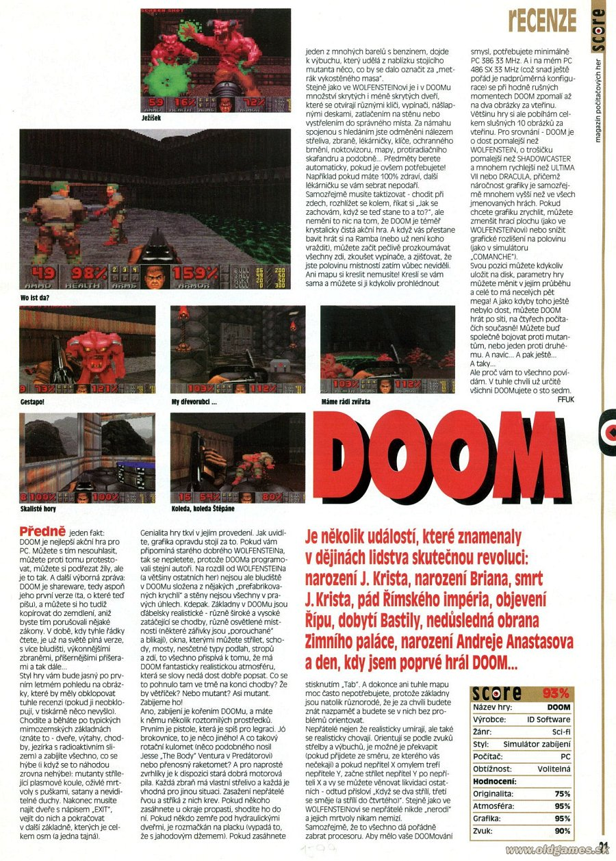 DOOM, DOOM2, ZDL DooM | PC: Staré hry | Forum