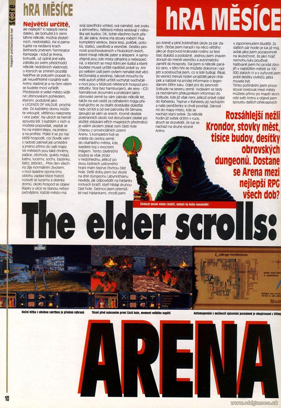 The Elder Scrolls: ARENA   PC: Staré hry   Forum