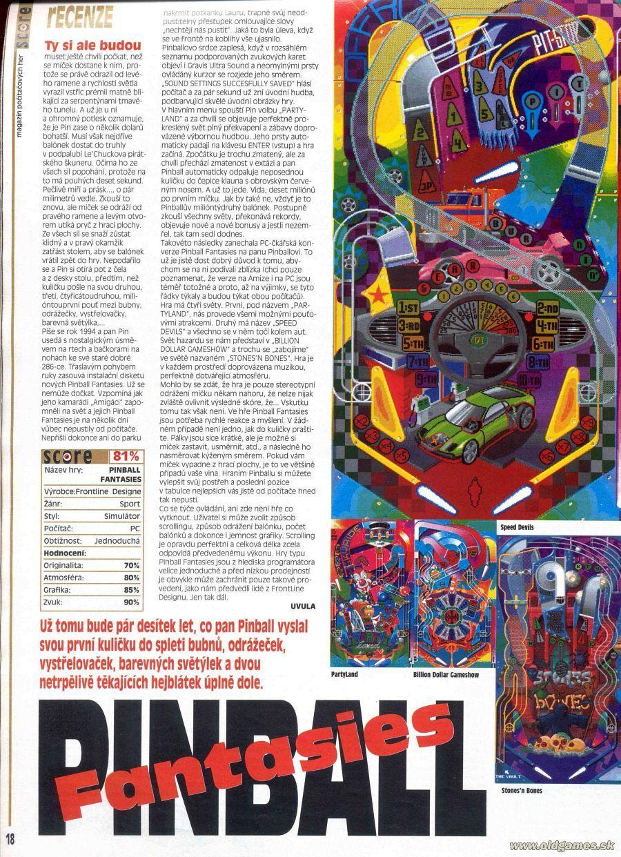 092dce0e9 Pinball Fantasies :: Score 6