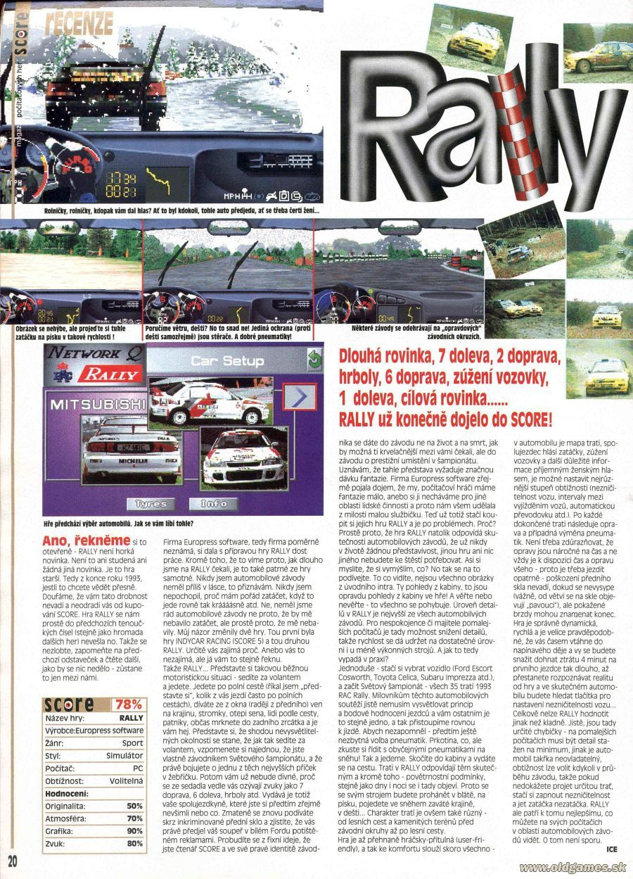 Network Q RAC Rally | PC: Staré hry | Forum