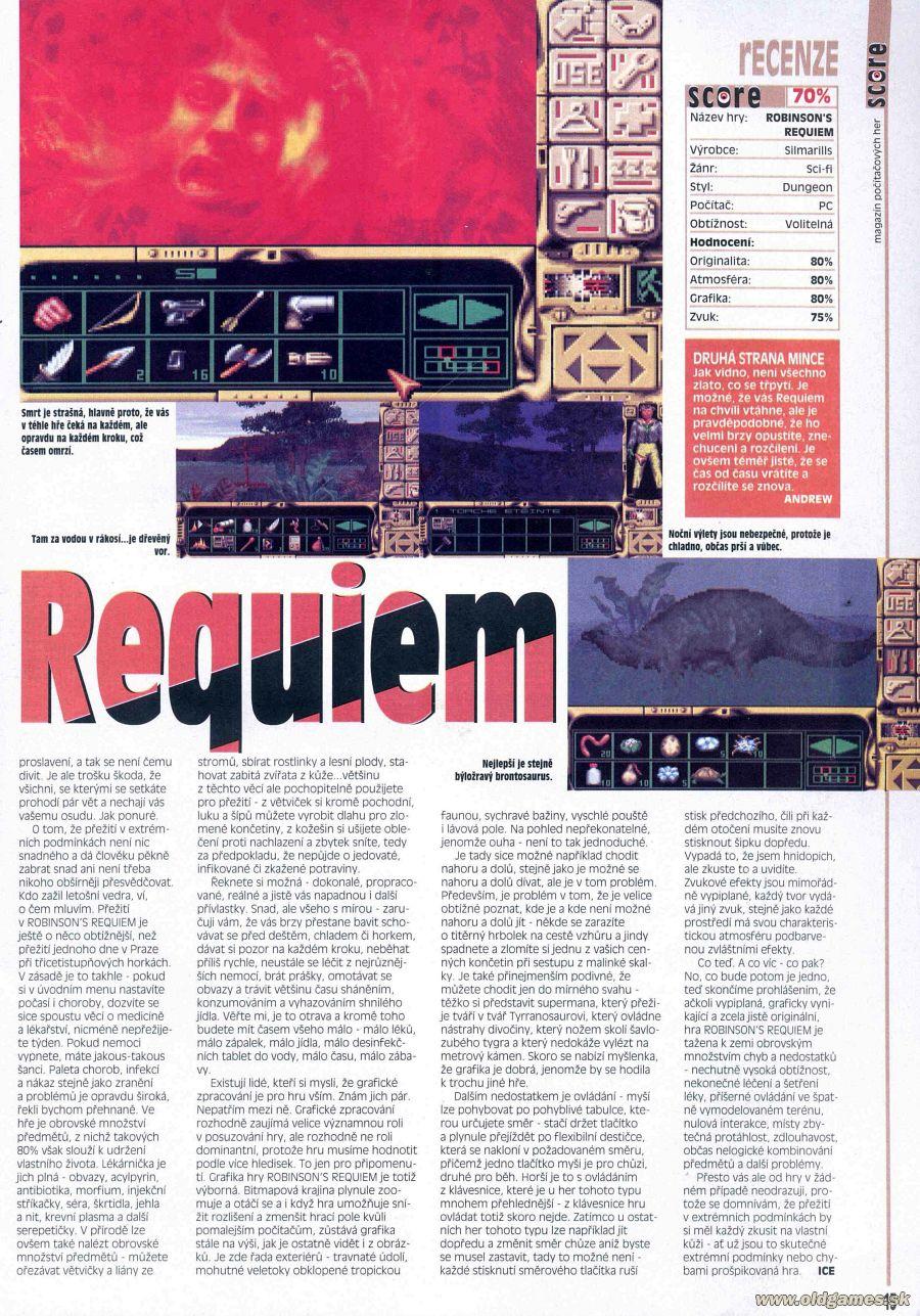 Robinson´s Requiem | PC: Staré hry | Forum