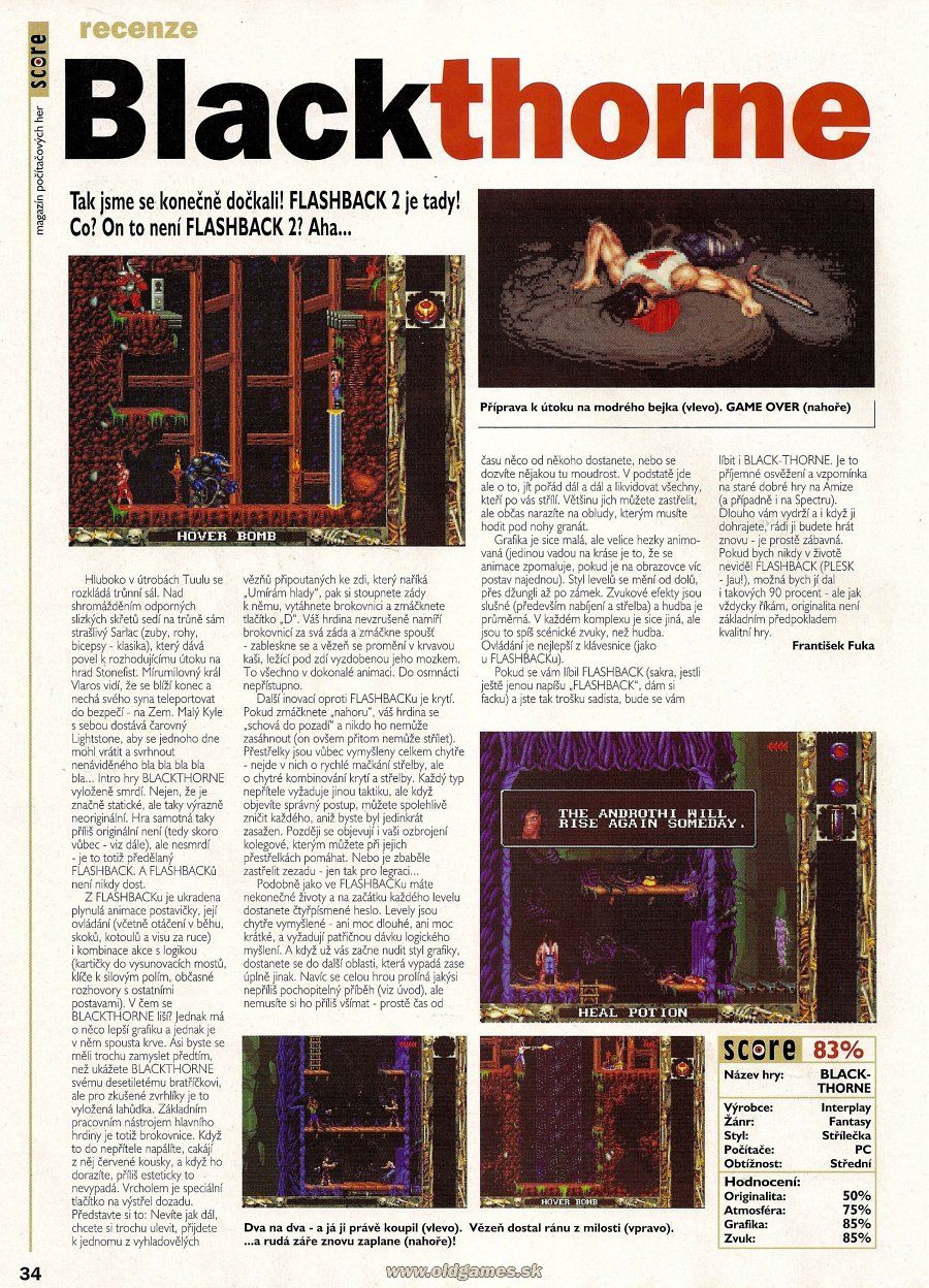 Blackthorne | PC: Staré hry | Forum