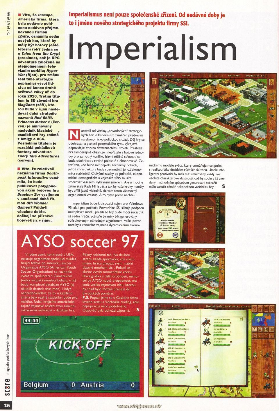 Preview: Imperialism, AYSO soccer 97
