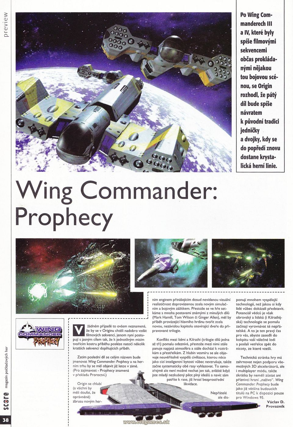 Preview: Wing Commander Prophecy