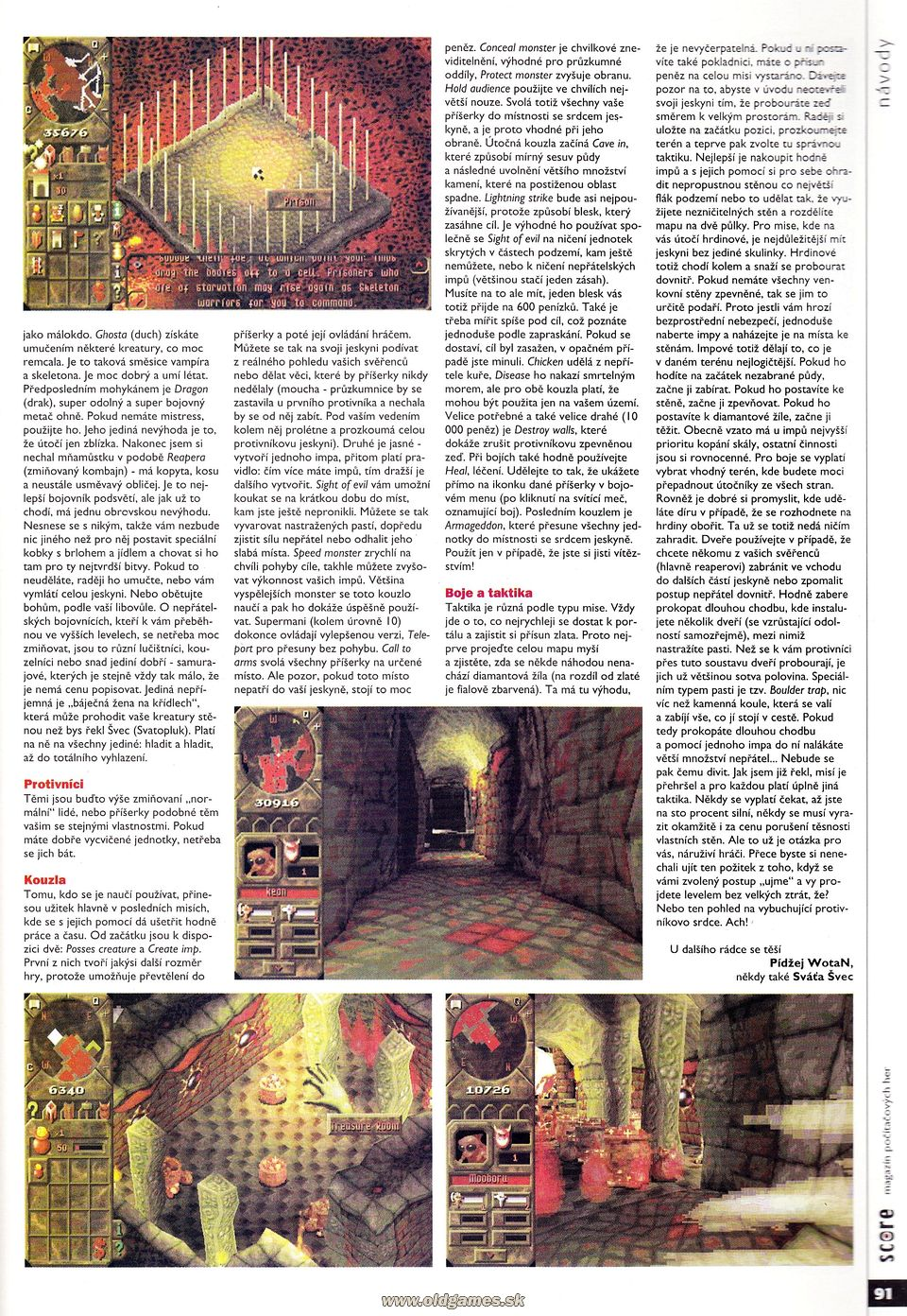 Dungeon Keeper - rádce