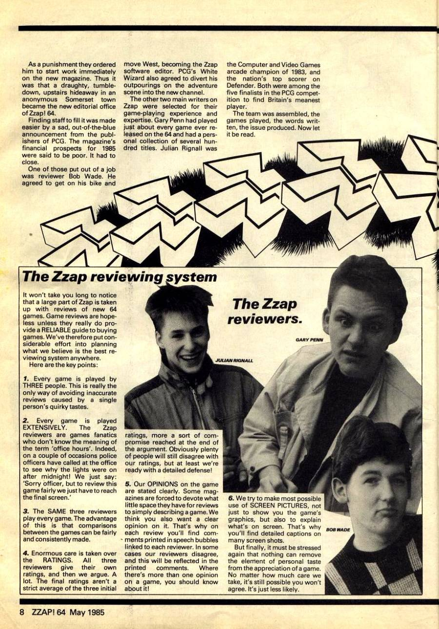 Zzap ED, Reviewing system