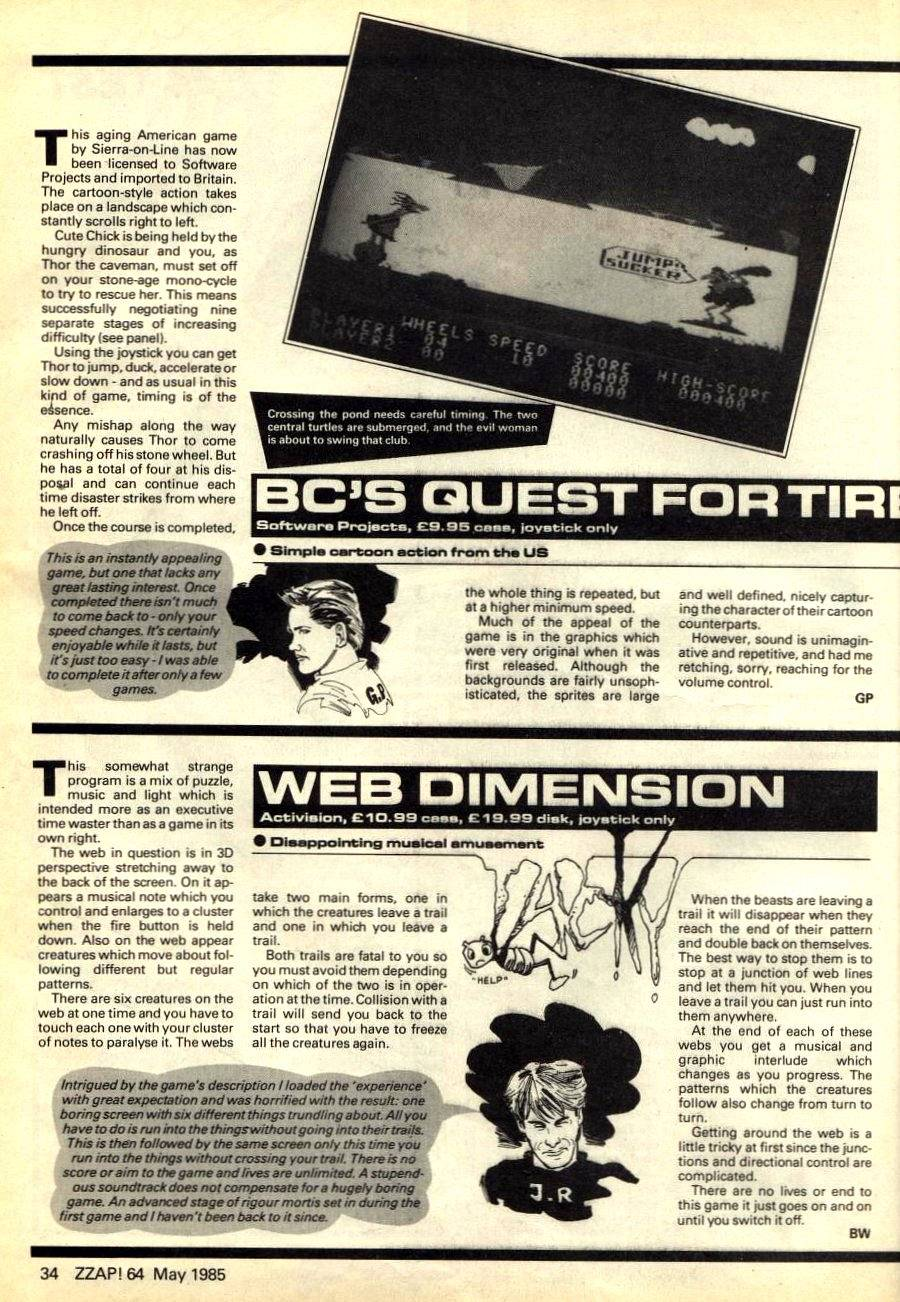 BC's Quest Fortires, Web Dimension