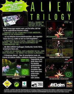 Alien Trilogy - Box scan - Back