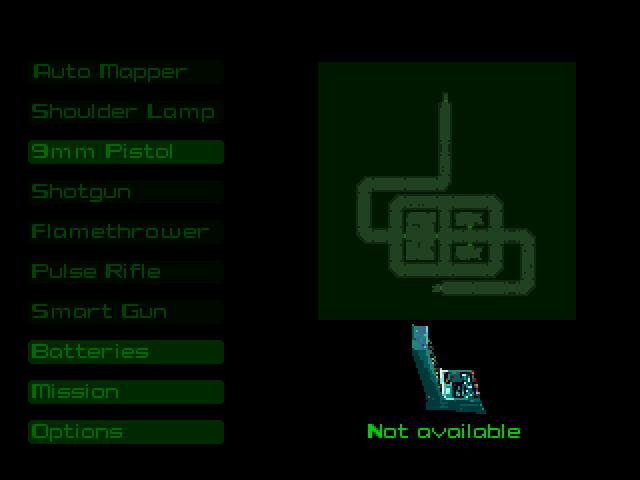 Automap screen