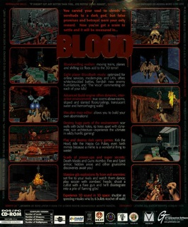 Blood (US Release) - Box scan - Back