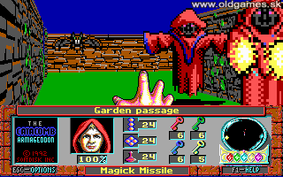 Catacomb Armageddon, The - PC DOS, Garden Passage