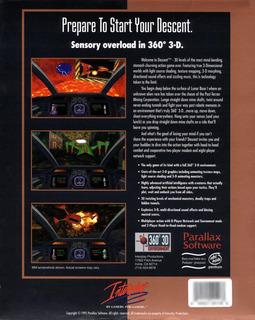 Descent (US Release) - Box scan - Back