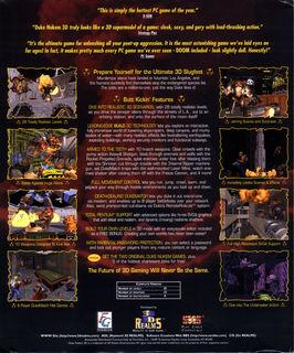 Duke Nukem 3D - Box scan - Back
