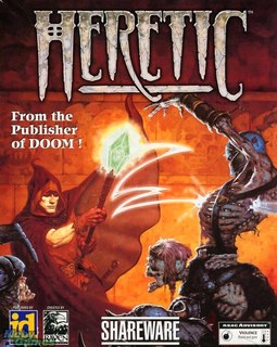 Heretic Shareware - Box scan - Front