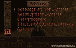 Quake, Main menu (DOS 320x200)