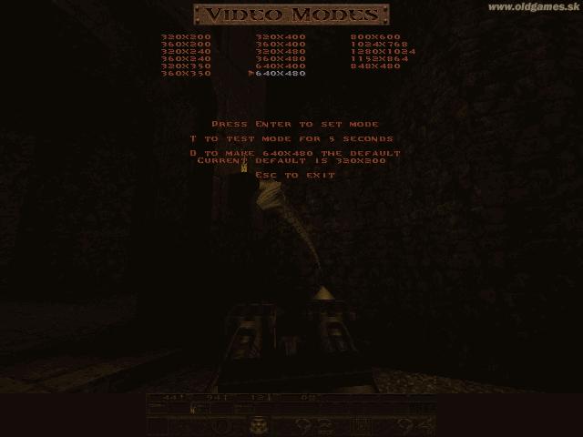 Quake, Video modes