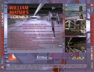 TekWar - CD Cover - Back