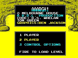 ZX Spectrum, Credits and Menu
