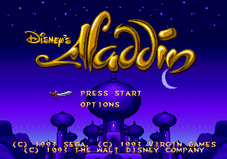Play online Disney's Aladdin for Sega Genesis