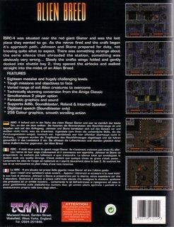 Alien Breed- Box scan - Back