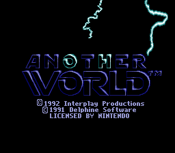Play online Another World for SNES