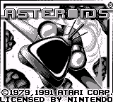 Play online - Asteroids (Game Boy)