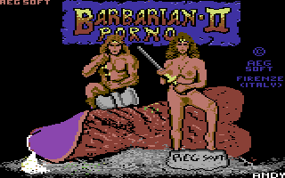 Commodore 64, Porno version - Title