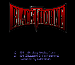 Play online BlackThorne for SNES
