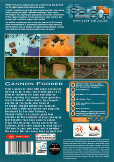 Cannon Fodder, SoldOut release - Box scan - Back