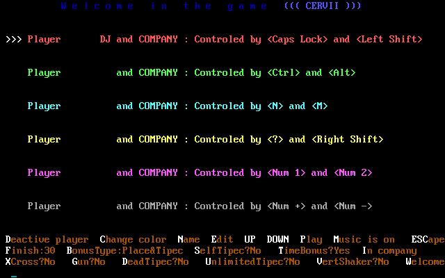 Play online Cervii for DOS