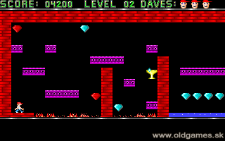 Dangerous Dave - PC DOS (VGA 1990), Level 2