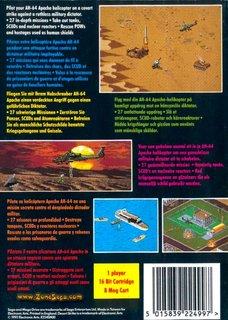 Desert Strike - Box scan - Back